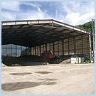 汚泥造粒固化施設